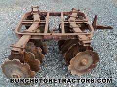 ihc farmall 1 point fast hitch 120 F disk harrow