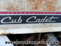 Internbational Cub Cadet Garden Tractors for Parts