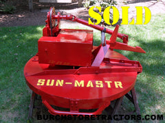 Farmall Cub Fast Hitch Sun-Mastr Mower restored