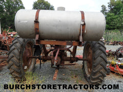 used farmall super c with mounted sprayer tank