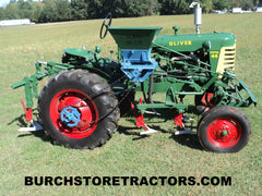 Oliver Super 44 tractor with full cultivators restored