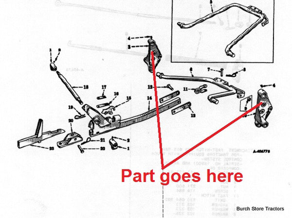 1 point fast hitch mounts for farmall cub tractors  520124r2  520125r2  u2013 burch store tractors