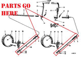 Cub Tractor Brake Operatering Rods