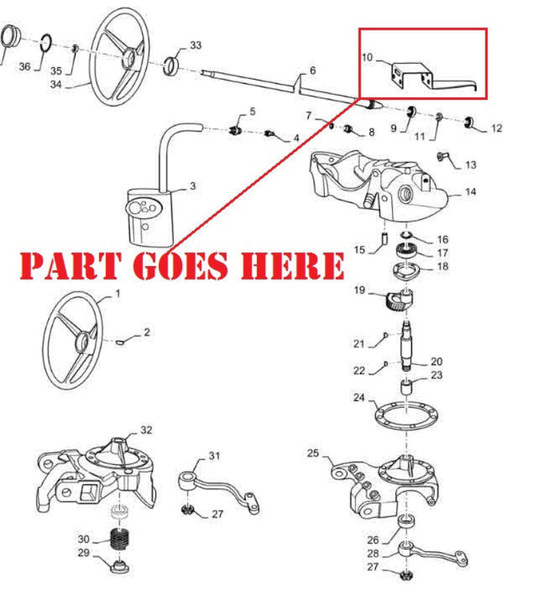 Grill Housing Bottom Support Bracket for Farmall 140