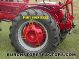 Left Rear Rim to Rim Center Square Head Bolt for Farmall