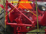 Farmall 140 Tractor Fast Hitch Spring Lift Arms