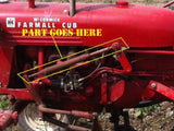 Front Cultivator Spring Lift Rods for Farmall  Cub Tractor.