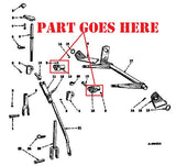 Fast Hitch for Farmall Cub or Cub LoBoy Tractors, 520126R1