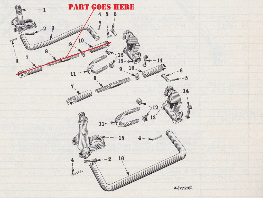 Farmall C Parts Diagram List Of Schematic Circuit Ih Super A Wiring Front Cultivator Rod With Adjusters For And Rh Burchstoretractors Com Manual Pdf