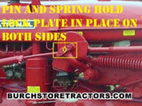 Front Hydraulic Rockshaft Pin with Spring for a Farmall Tractor