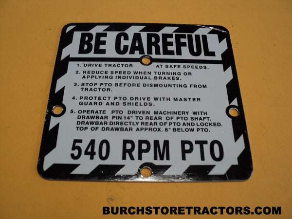 Safety Plate for John Deere 530 Tractors