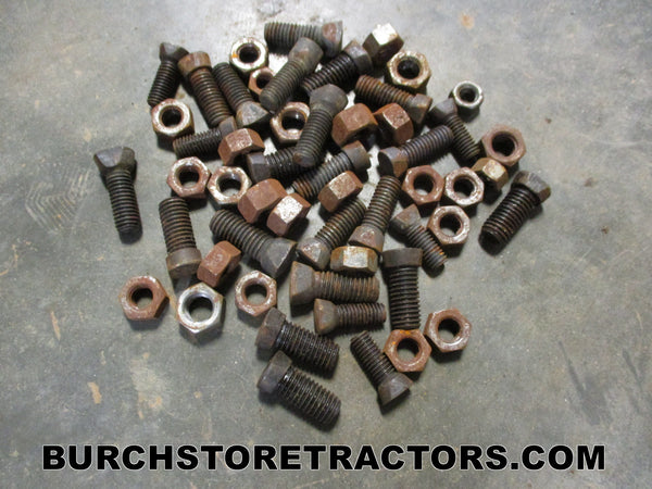 New Old Stock Miscellaneous Assorted Plow Bolts