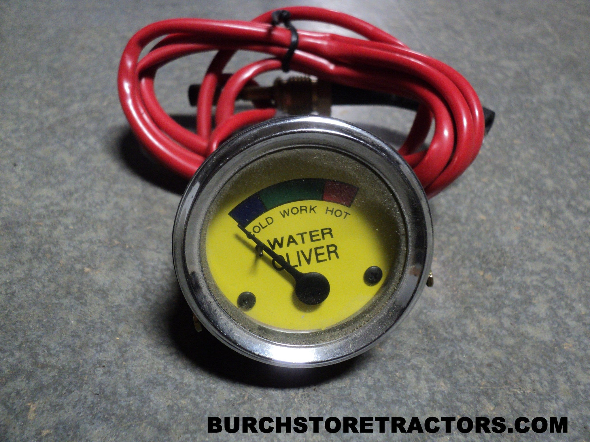 New Water Temperature Gauge For Oliver Hg Oc 3 4 6 Super Old Tractor Electrical Wiring 44 Burch Store Tractors