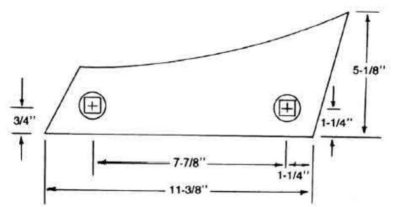 Plow Shin for White, Oliver, and Case Moldboard Plows