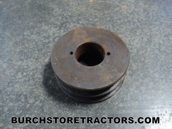 Woods mower double groove pulley