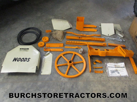 case vac tractor woods mower mounting kit