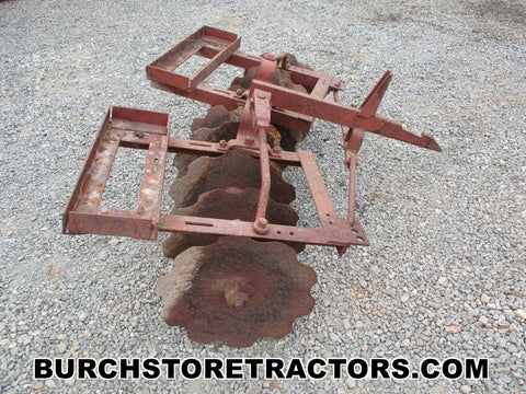 Farmall 140 Tractor 1 point hitch disc harrow