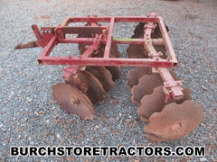 farmall 140 tractor 1 point hitch double gang disc harrow