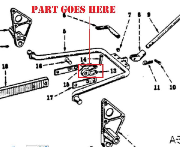 1 Point Fast Hitch Bail Connector Yoke for Farmall 140