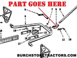 Farmall  tractor fast hitch part 520070R1