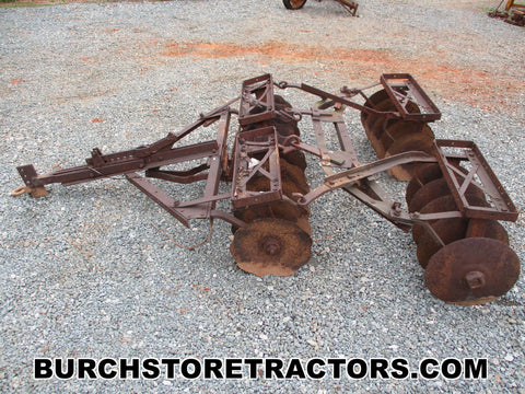 farmall tractor pull behind double gang disk harrow