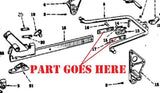 Fast Hitch Pull Bar Extension Plates for Farmall 140, 130, Super A, 100, Cub Tractors,  520102R1
