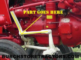 front left cultivator arm and connector for farmall tractor 516769R21, 516766R1