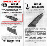 "Wiese ""Twin Quickies"" Spear Point Holder for IH Plow Chief Plows"