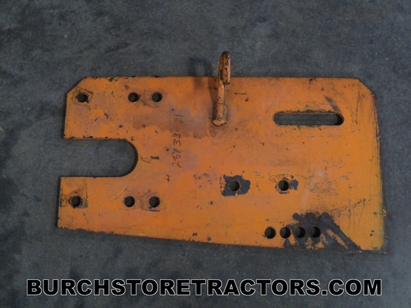 woods mower left idler plate