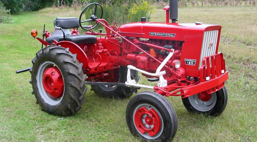 Farmall 140 tractor restored right side view