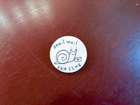 Snail Mail Fan Club Pin