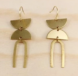Brass Earrings No. 25