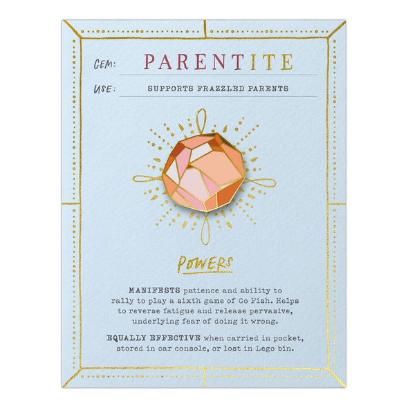 Parentite Fantasy Stone Magnetic Pin and Card