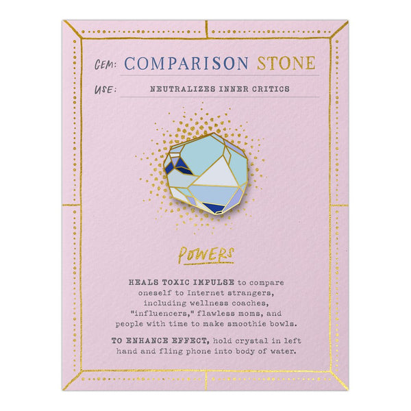 Comparison Stone Fantasy Stone Magnetic Pin and Card