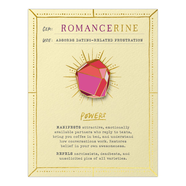 Romancerine Fantasy Stone Magnetic Pin and Card