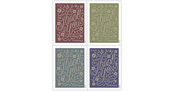 *Forever Letter Stamps: Thank You