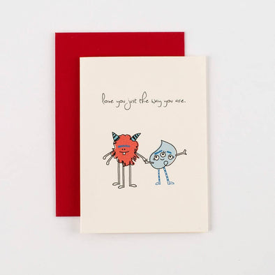 Love You Just the Way You Are Monsters Love Card