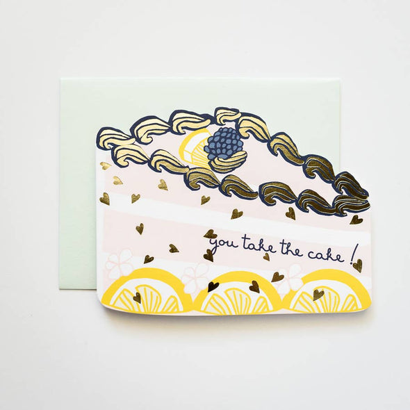 You Take the Cake! Die Cut Card