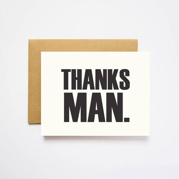 Thanks Man Thank You Card