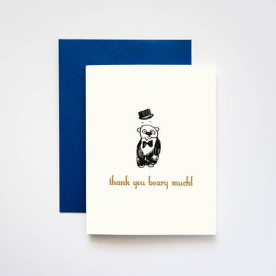Thank You Beary Much Greeting Card
