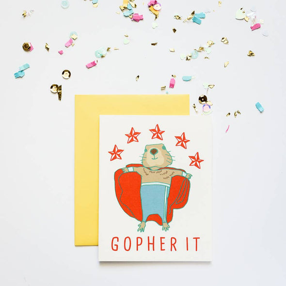 Gopher It! Encouragement Card