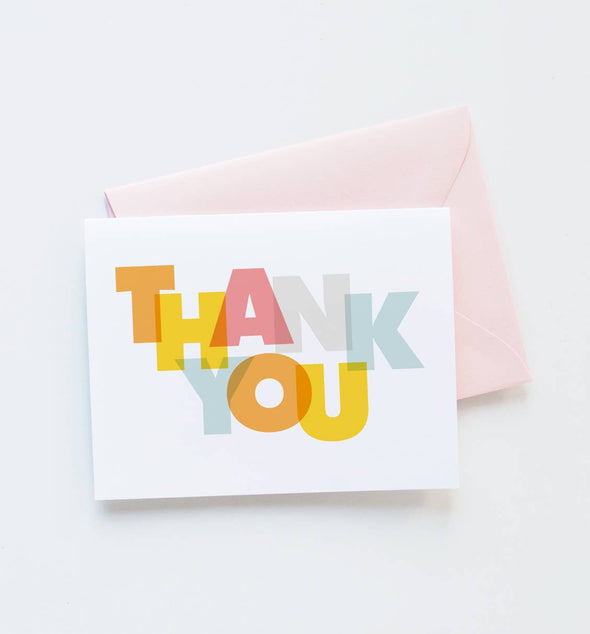 Modern Thank You Greeting Card (Boxed Set of 8)