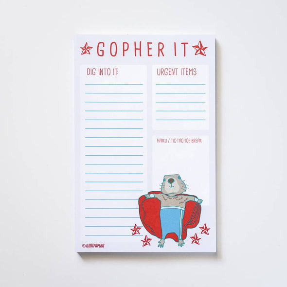 Gopher It! Nacho Libre Gopher Desk Notepad
