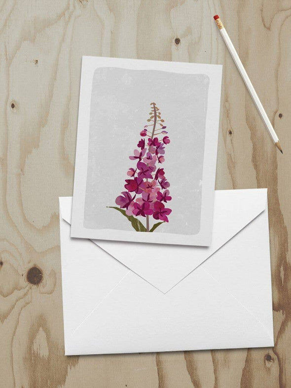 A2 Fireweed Note Card
