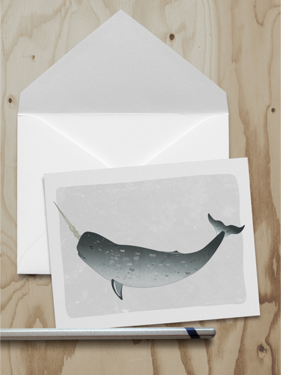Narwhal Note Card