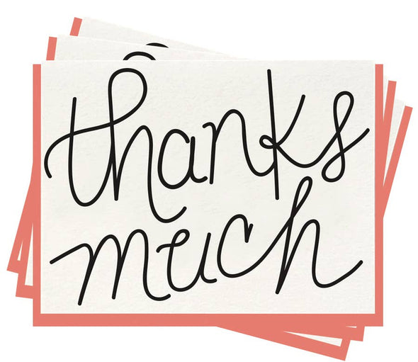 Thanks Much - Boxed Set of 6 Cards