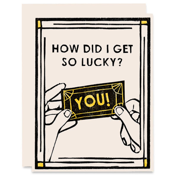 Lucky Ticket Romance Card