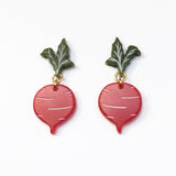 Beet Stud Earrings