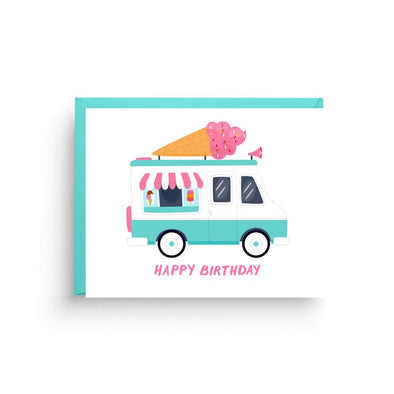 Ice Cream Truck Birthday Card