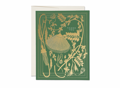 Sage Foil Thank You Card